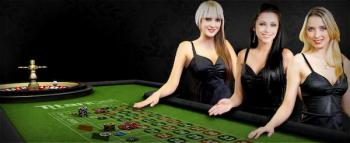 roulette table and dealers